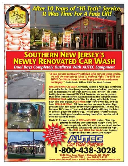 new jersey car wash equipment rise and shine